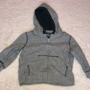 Boy's zip up hooded sweatshirt